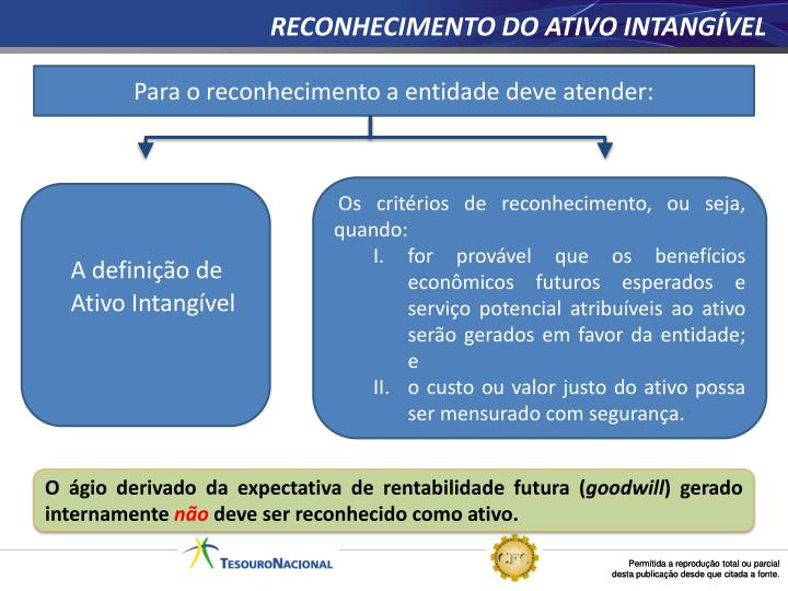 RECONHECIMENTO DO ATIVO INTANGÍVEL