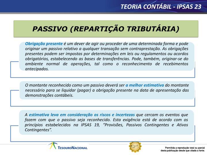 TEORIA CONTÁBIL - IPSAS 23
