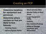 creating an itcp