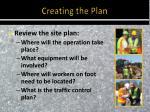 creating the plan1