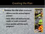 creating the plan2