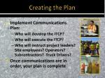 creating the plan3