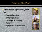 creating the plan4