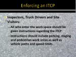 enforcing an itcp1