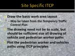 site specific itcp