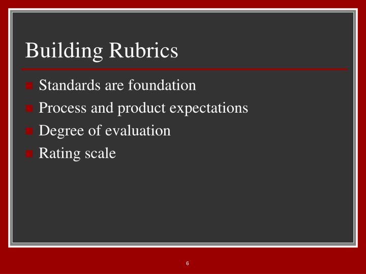 Building Rubrics