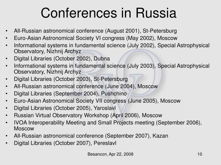 Conferences in Russia