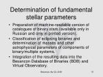 determination of fundamental stellar parameters