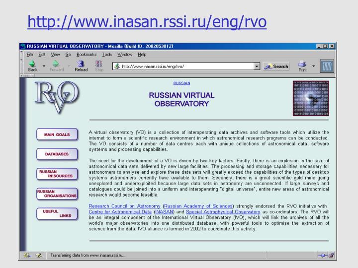 http://www.inasan.rssi.ru/eng/rvo