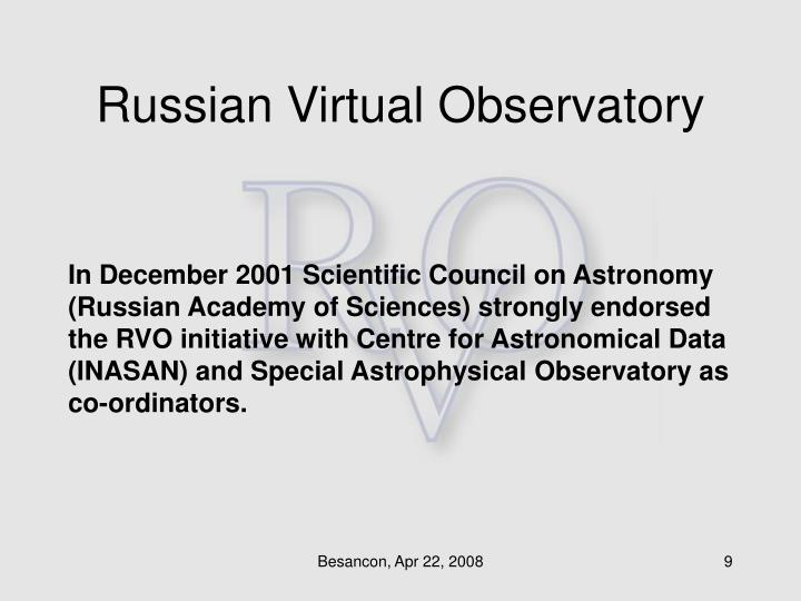 Russian Virtual Observatory
