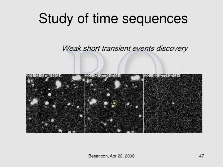 Study of time sequences