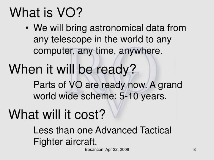 What is VO?
