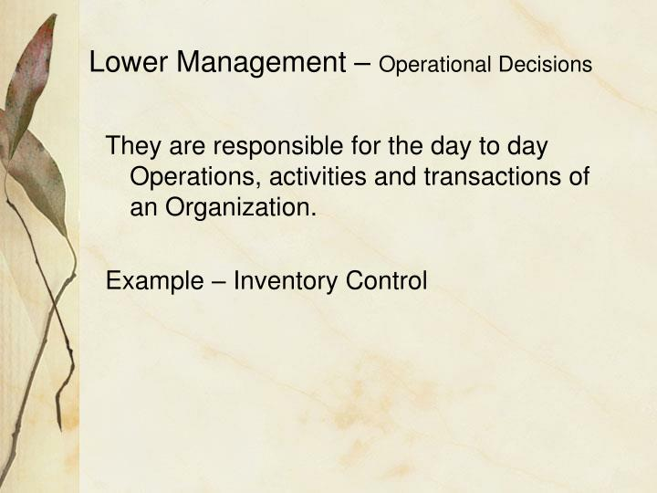 Lower Management –