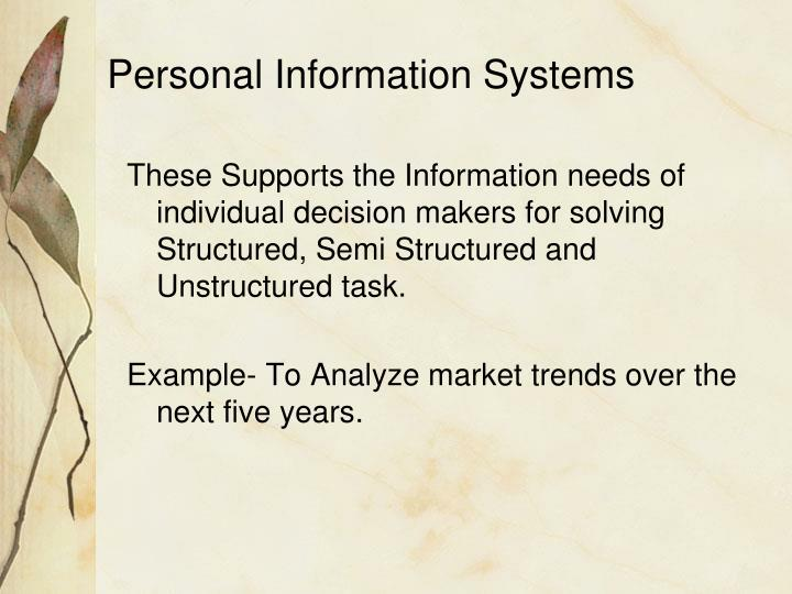 Personal Information Systems