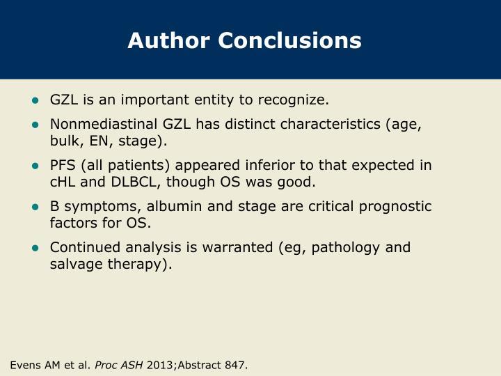 Author Conclusions