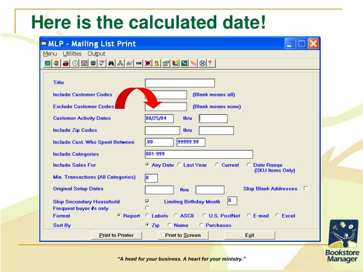 Here is the calculated date!