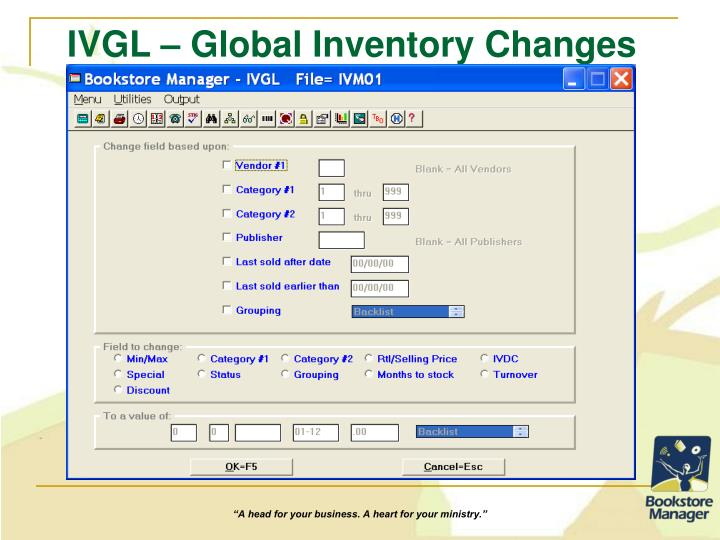 IVGL – Global Inventory Changes