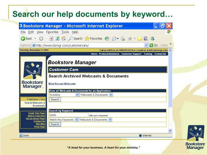 Search our help documents by keyword…