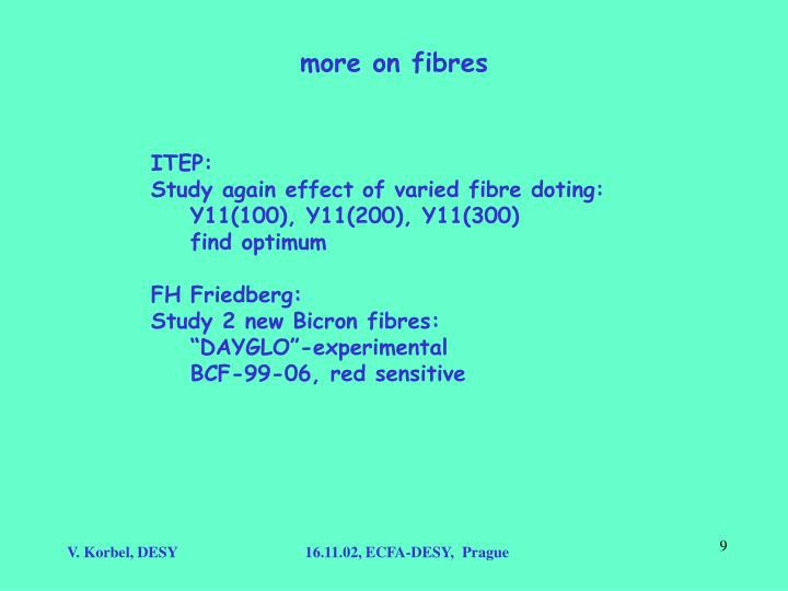 more on fibres