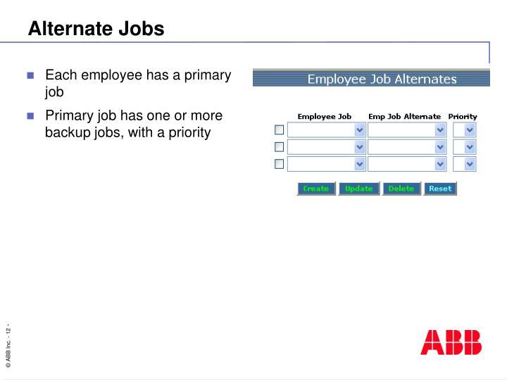 Alternate Jobs