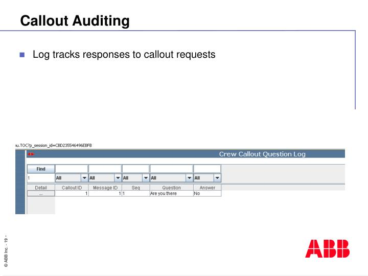 Callout Auditing