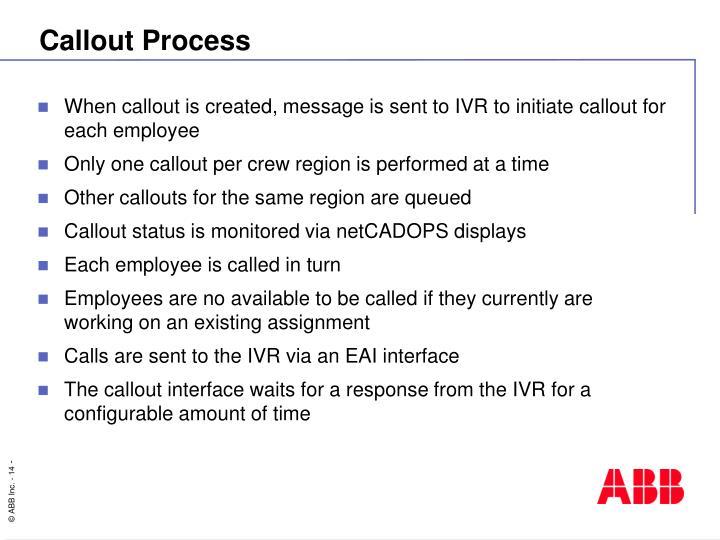Callout Process
