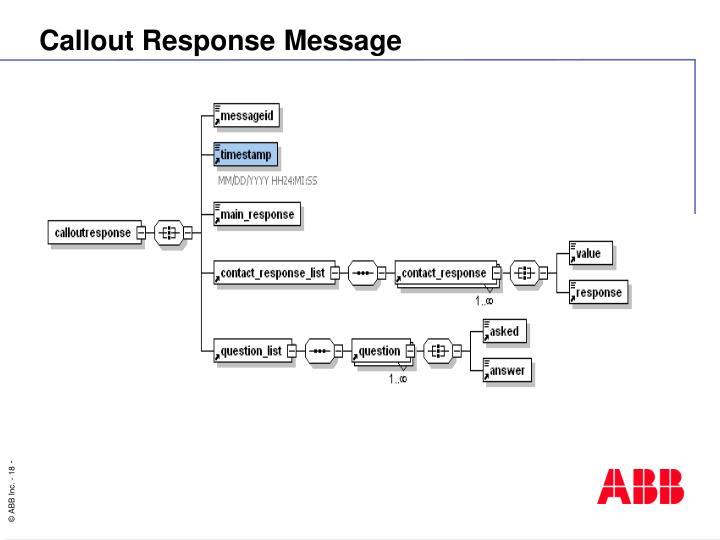 Callout Response Message