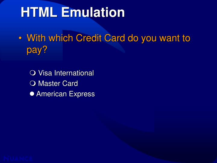 HTML Emulation