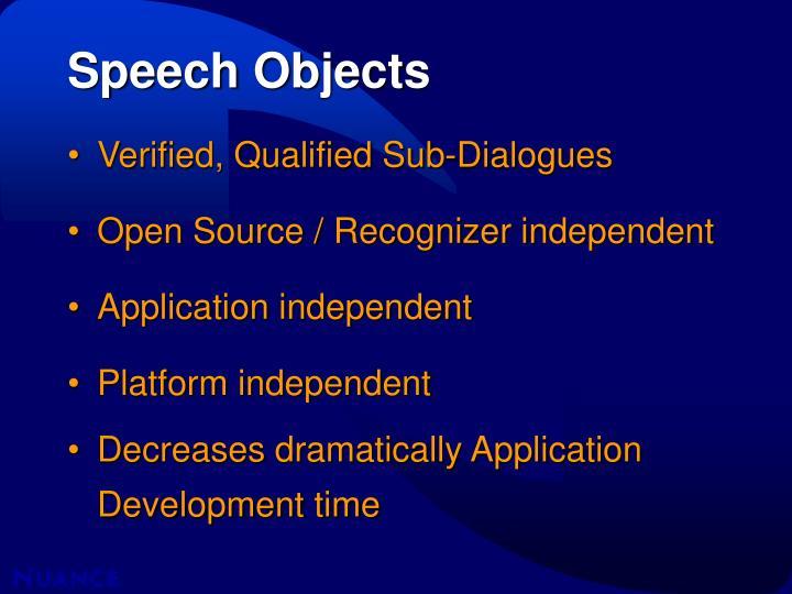 Speech Objects
