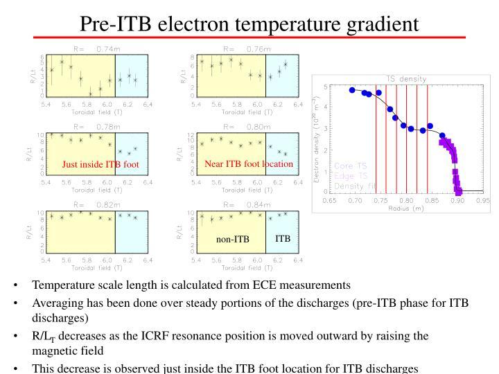 Pre-ITB electron temperature gradient