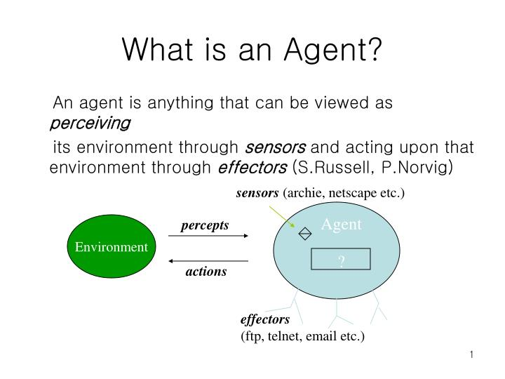 What is an agent