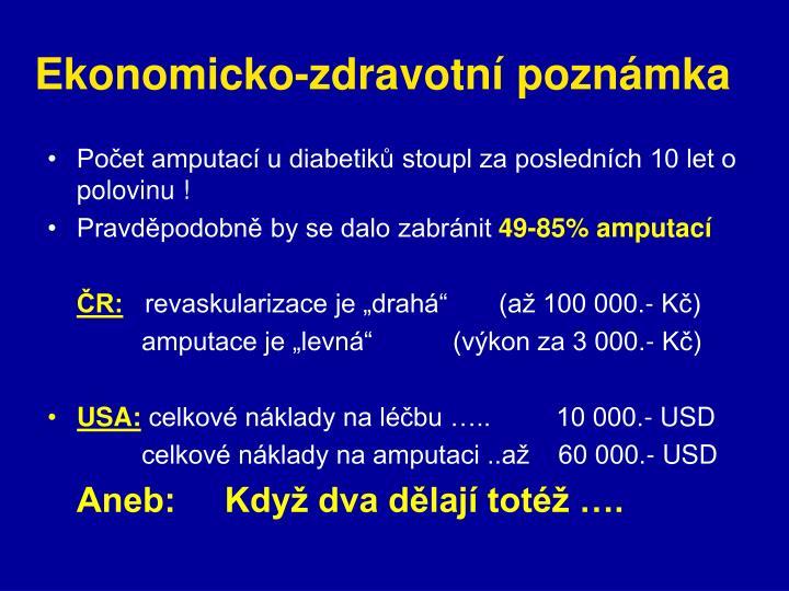 Ekonomicko-zdravotní poznámka