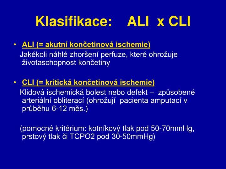 Klasifikace:    ALI  x CLI