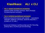 klasifikace ali x cli