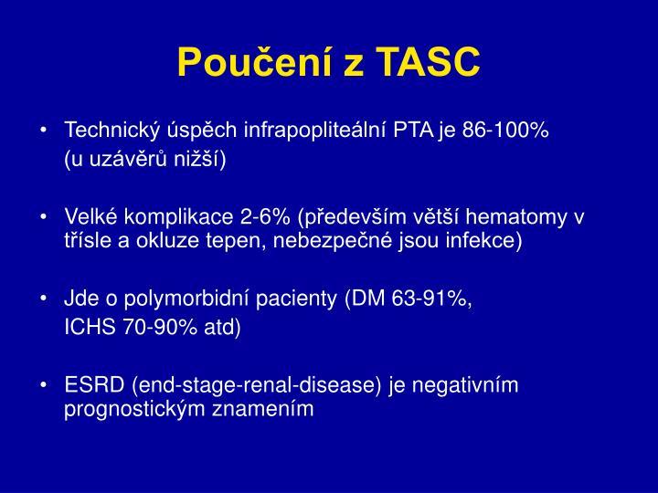 Poučení z TASC