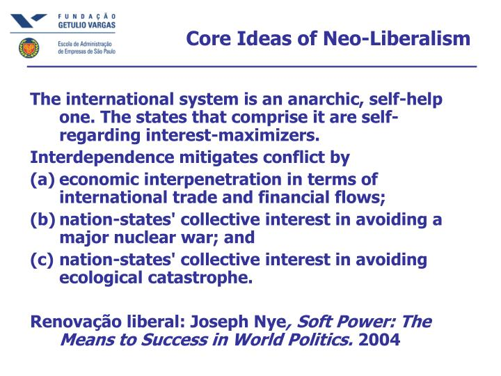 Core Ideas of Neo-Liberalism