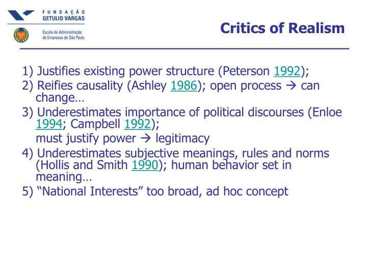 Critics of Realism