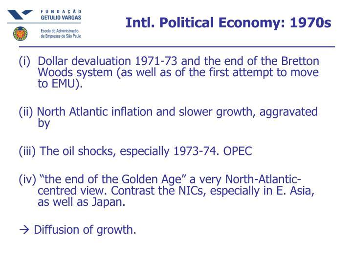 Intl. Political Economy: 1970s