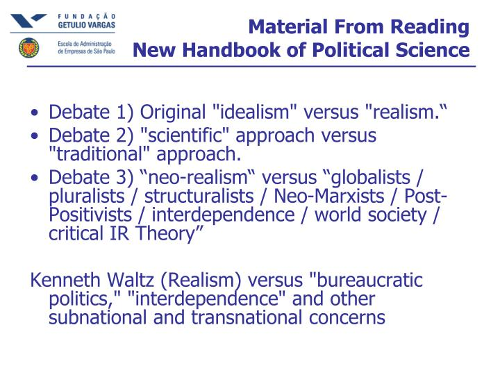 Material From Reading