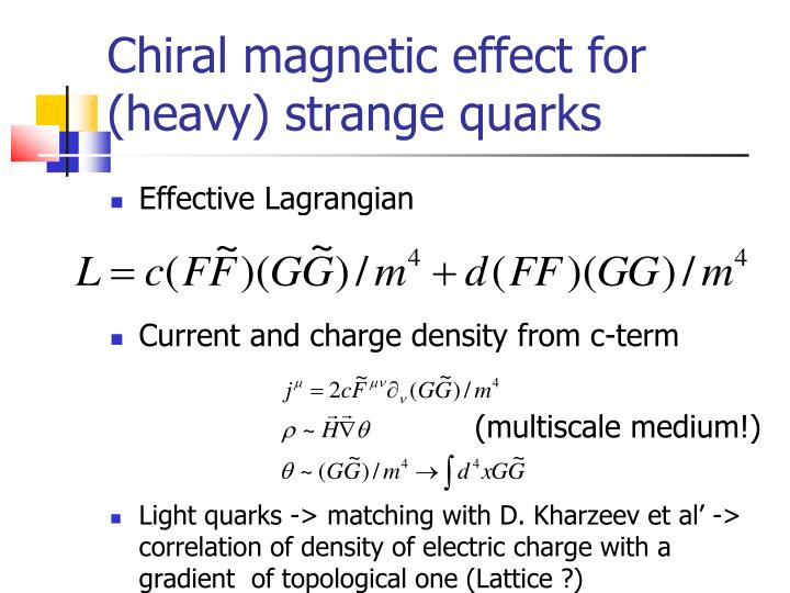 Chiral magnetic effect for (heavy) strange quarks