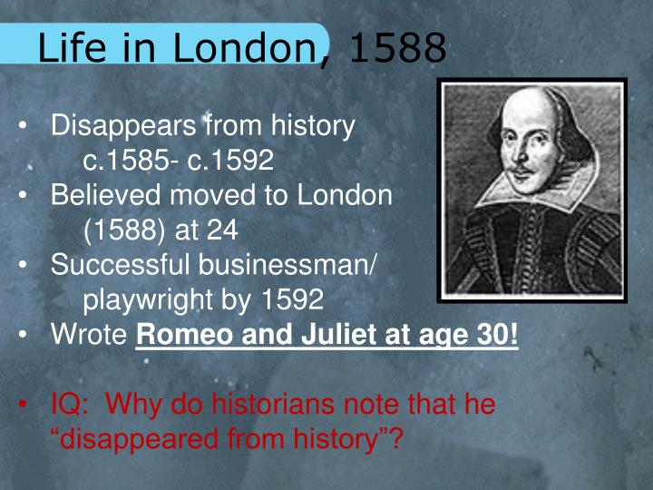 Life in London, 1588