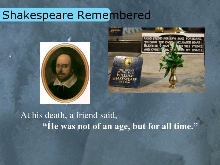 Shakespeare Remembered