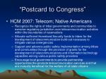 postcard to congress