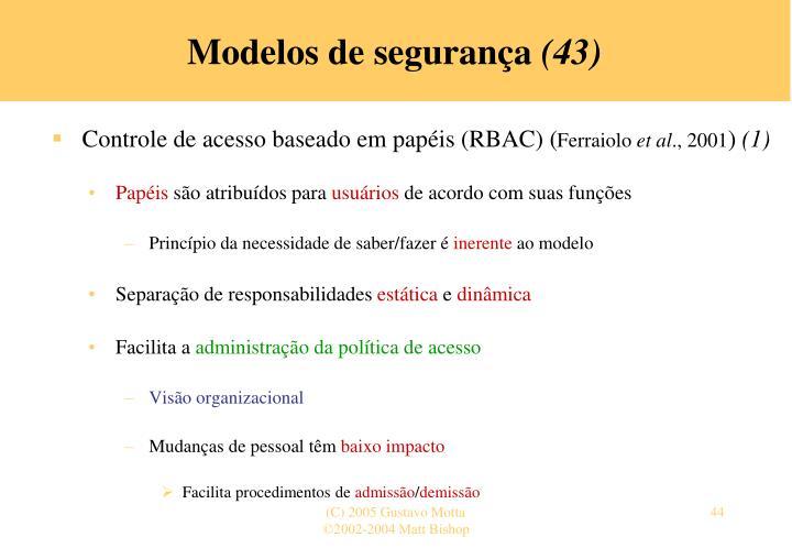 Modelos de segurança