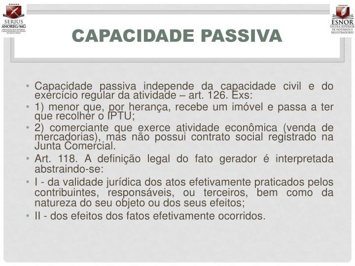Capacidade passiva