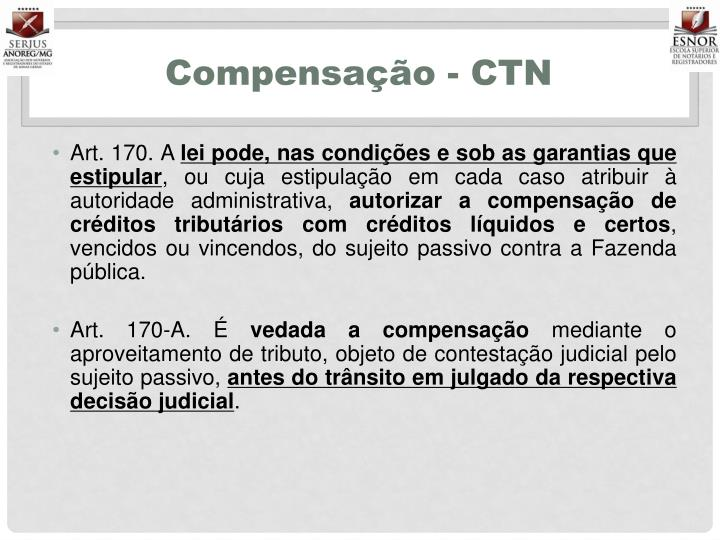 Compensação - CTN