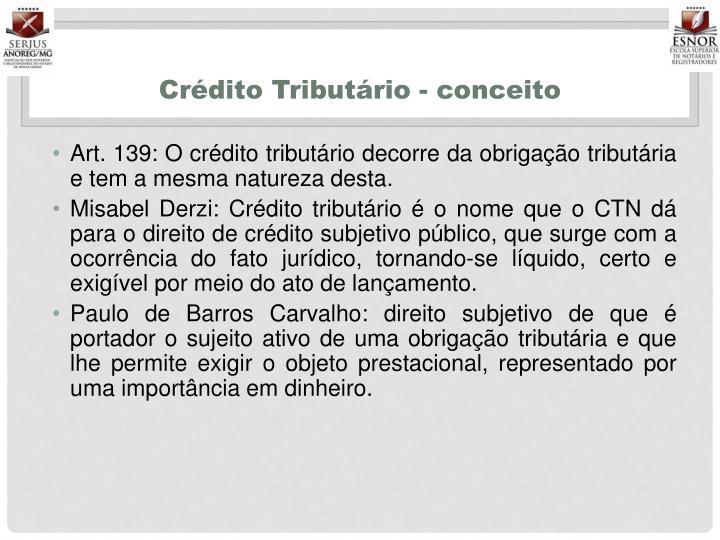 Crédito Tributário - conceito