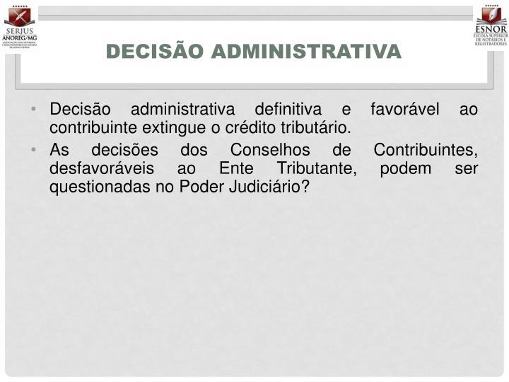 Decisão administrativa