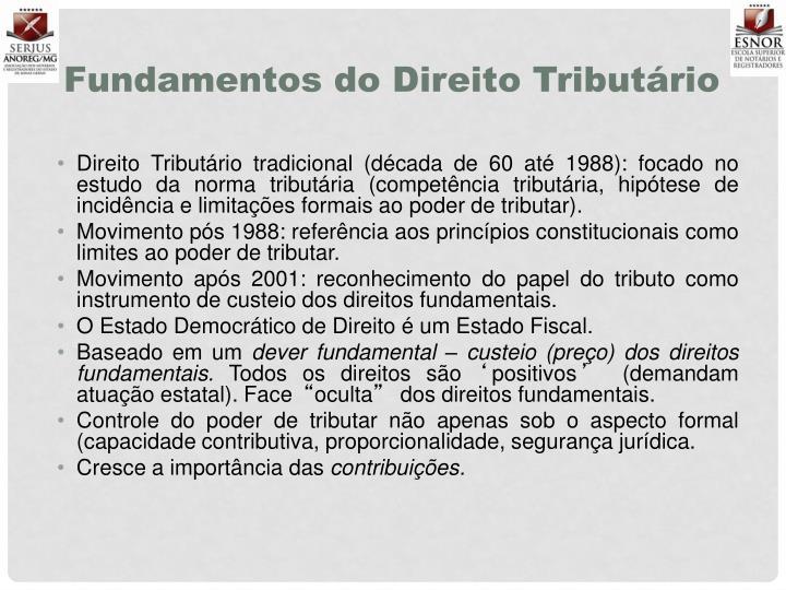Fundamentos do Direito Tributário