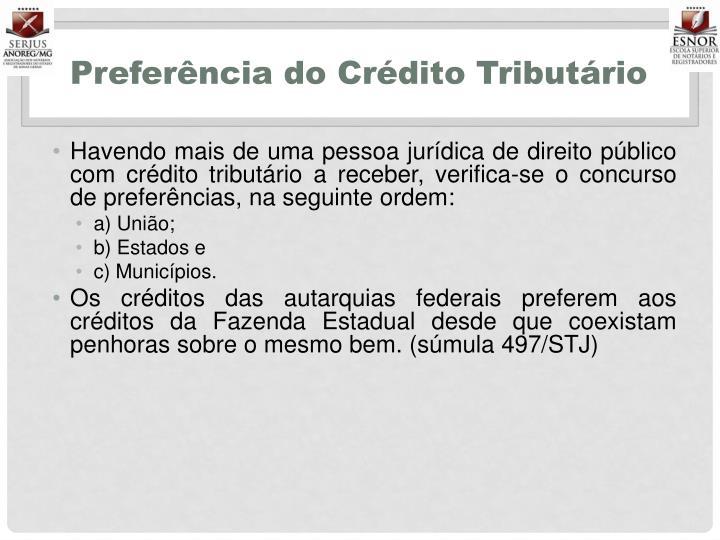 Preferência do Crédito Tributário